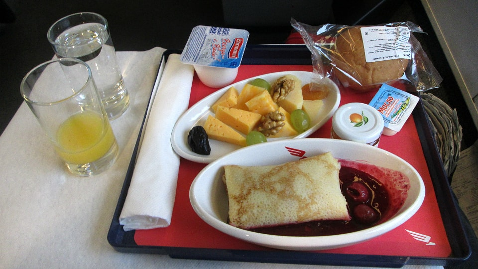 Food on Sapsan Train